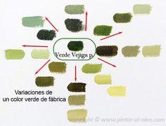 Mezcla de colores 6: Cómo mezclar el color verde al pintar paisajes