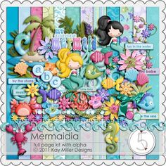 Mermaidia kit $6.99. Used this for invites and tons of decorations.