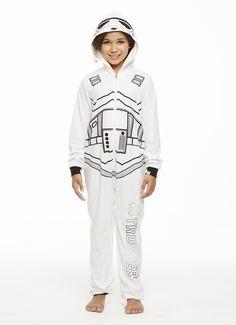 Jammin' Jammies Pajamas Unisex Kids Star Wars Storm Trooper Onesie With Pillow Case. Star Wars Kids, Matching Pajamas, Star Wars Collection, Onesies, Graphic Sweatshirt, Unisex, Stars, Sweatshirts, Sweaters
