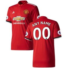 9988059a38a Manchester United adidas 2017 18 Home Replica Custom Jersey - Red Jackson
