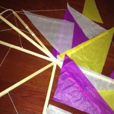 #bermuda kite making: cutting out tissue paper. Part 2