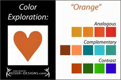 Explore Color: Orange - Eva Maria Keiser Designs