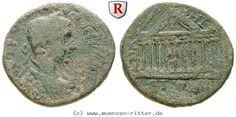 RITTER Kilikien, Anazarbos, Severus Alexander, Triassarion, Tempel #coins