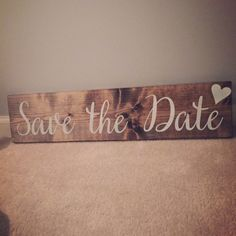 Wood Save the Date Sign  Photo Prop  Thank You by JaxDesigns27