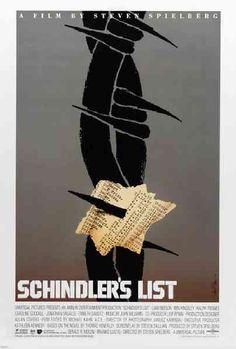 """MP545. """"Schlinder´s List"""" Alternative Movie Poster by Saul Bass (Steven Spielberg 1993) / #Movieposter"""