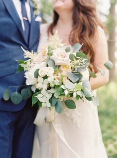 A bouquet of loveliness: http://www.stylemepretty.com/2015/08/26/elegant-whimsical-crane-estate-wedding/ | Photography: O'Malley Photographers - http://omalleyphotographers.com/