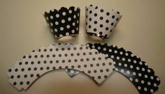Reversible Black and White Polka Dotted by whimzypartycreations, $2.00