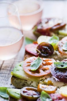 Heirloom Tomato Toast ~ the simple pleasure of great tomatoes paired with great bread is known to tomato lovers everywhere. Tomato Toast Recipe, Bread Soup, Quick Appetizers, Heirloom Tomatoes, Ciabatta, Artisan Bread, Vegan Cheese, Quick Bread, Simple Pleasures