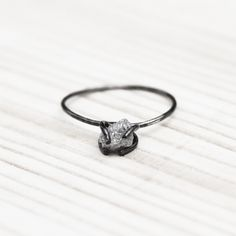 Just completely adore this rough-cut diamond ring...a diamond without all the hullabaloo is my kind of diamond :: Fab.com | Urban Aviary Rough Diamond Ring
