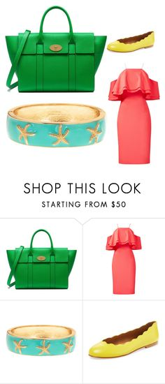 """Pure Spring"" by kerry-white-williams ❤ liked on Polyvore featuring Mulberry, Badgley Mischka and French Sole FS/NY"