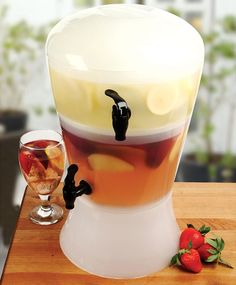 Fancy - Frosted On-Ice Dual Acrylic Beverage Dispenser