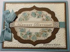 Barbara Welch, CreativeStampinSpot.blogspot.com Very Vintage Card #3