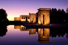 Discover Madrid's Egyptian temple. Do your best Indiana Jones impression as you visit the Temple of Debod, an Egyptian-style building found on a hill in Parque del Oeste. This prestigious gift was given to Spain for helping to preserve temples along the Nile. It's free to explore in small groups during opening hours. The area around the temple is a popular spot for locals, who plan picnics there, and it's one of the best places in Madrid to relax and watch the sun set.