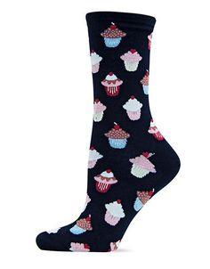 Hot Sox Cupcake Socks Women's Black 9-11