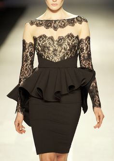 PAVONI F/W 2013 jean dress#2dayslook #maria257893 #jeansfashion ww.2dayslook.com