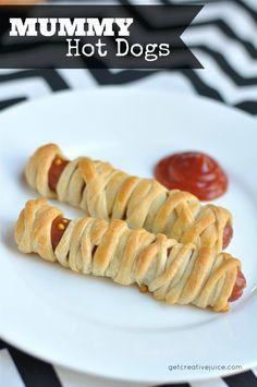 {recipe} Halloween Mummy Hot Dogs - Creative Juice
