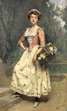 Raimundo de Madrazo y Garreta (Rome 1841 – Versailles 1920)Spanish realist painter.