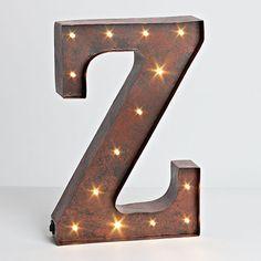 "12""H Battery Operated LED Letter, Timer, Letter Z"