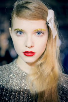 Makeup for Jean-Charles de Castelbajac - Paris Fashion Week 14SS   / make up by shu uemura