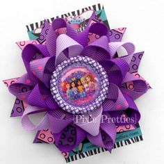 Lego Friends Loopy Flower Hair Bow (Your Choice of Bottle Cap). $7.00, via Etsy.