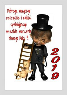 Kartka noworoczna 🍸🌲🍷🍸🌲🍷🍸🍷🍸🌲🍷 Merry Christmas Gif, Christmas Crafts, Humor, Movie Posters, Noel, January, Humour, Film Poster