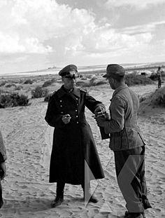 Erwin Rommel, The Desert Fox drinking coffee and eating breakfast in the Desert, El Alamein 1942