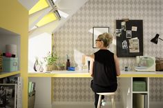 Studies show that exposure to natural light increases productivity levels. Now that's one reason to install skylights in your office or workspace. Roof Window, Attic Window, Storey Homes, House Extensions, Open Plan, New Homes, Minimalist, Loft, Windows