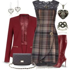 """""""Plaid Pondering ~ Contest ~ Scervino Dress"""" by pwhiteaurora on Polyvore"""