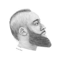 James Harden portrait drawn in one, very long line. Can you find the two ends? Portrait number 23 is here. Available as a beautiful print in store.