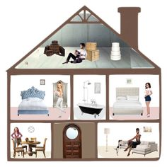 """Doll's House"" by molly2222 ❤ liked on Polyvore featuring art"