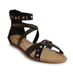 Sandalia Tachuelas Negro - 11€ - http://www.calzadospayma.com/2380-1-cruz-tachuela-negro-.html