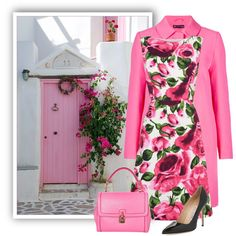 Pink Door by momsinbda on Polyvore featuring moda, Phase Eight, Manolo Blahnik and Dolce&Gabbana