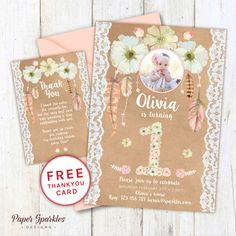 Unicorn invitation, Unicorn party, First birthday ...