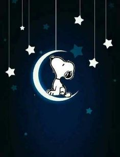 Snoopy moon and stars