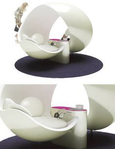 Futuristic chair for two.