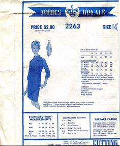1960s Modes Royale  Slim Fitting Afternoon by DesignRewindFashions, $20.00