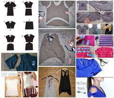 30 Sugestões e 5 idéias para Customizar Camisetas