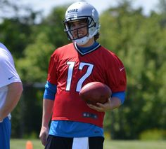 Former BSU Quarterback Kellen Moore wearing his new #17 with the Detroit Lions...