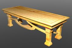 Wooden Table 3d model free