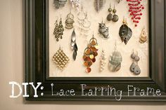 If I'm ever able to wear earrings again, this would be a cute way to stash them