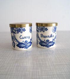 Keramik Gewürzdose Paprika + Curry