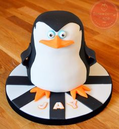 Madagascar Penguin Cake - Cake by Strawberry Lane Cake Company