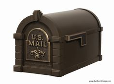 Keystone Fleur De Lis Curbside Residential Mailboxes and Standard Mailbox Post. Available in a locking version and with an address plaque Large Mailbox, Mailbox Post, Mailbox Ideas, Residential Mailboxes, Security Mailbox, Mounted Mailbox, Bronze, Aleta, Address Plaque