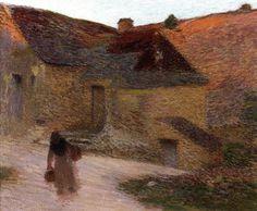 lawrenceleemagnuson:  Henri MartinSoleil couchant sur la petite ferme du Lot (1898)