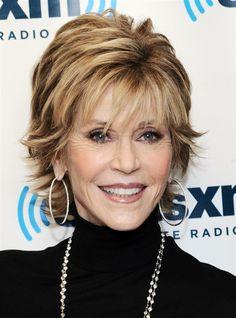 Ideas For Hair Cuts Layers Over 50 Jane Fonda Shaggy Short Hair, Short Shag Hairstyles, Short Layered Haircuts, Thin Hair Haircuts, Haircut For Thick Hair, Short Grey Hair, Cool Hairstyles, Jane Fonda Hairstyles, Short Hair Styles Easy