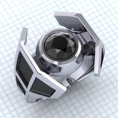 X-Wing And TIE Fighter Engagement Rings