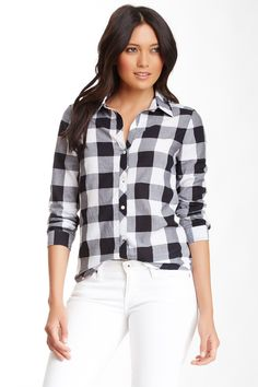 Abound Plaid Long Sleeve School Shirt (Juniors) by Abound on @nordstrom_rack