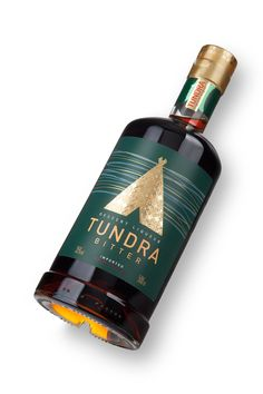 The best way to stay warm in bitter wintry weather like they have in Russia? Vodka, and lots of it. Uniqa Creative Engineering designed the packaging for Tundra, a line of vodkas and bitters that come in flavors of the wild Russian tundra.