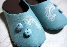 Ideas para el hogar: Pantuflas en fieltro paso a paso para los chicos incluye dos modelos