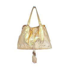 Gucci Metallic Gold Snakeskin Shoulder Bag Tote | From a collection of rare vintage shoulder bags at https://www.1stdibs.com/fashion/handbags-purses-bags/shoulder-bags/